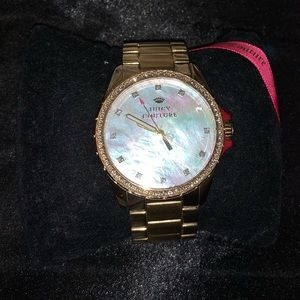 Juicy couture watch, yellow gold in good condition